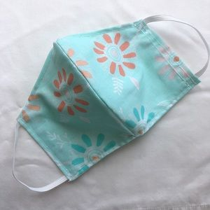 100% cotton face mask with filter pocket